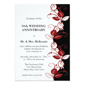 Anniversary Roses (Maroon) Card