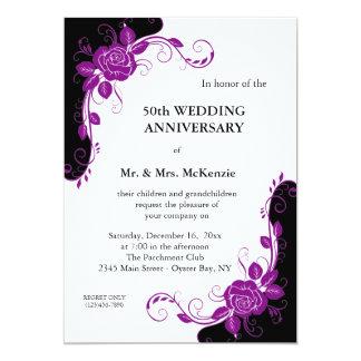 Anniversary Roses (Purple) Card