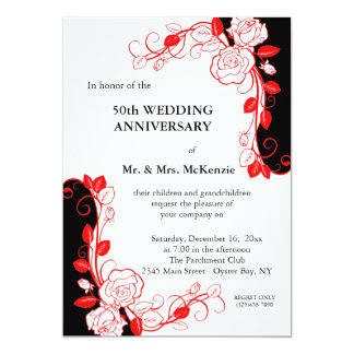 Anniversary Roses (Red) Card