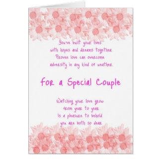 Anniversary Special Couple Original Poetry Card