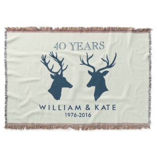 ANNIVERSARY STAG & DEER THROW
