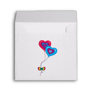 Anniversary Surprise Heart Balloons Matching Envelope