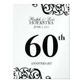 Anniversary table centerpiece party reception card