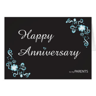 Anniversary to my parent greeting card
