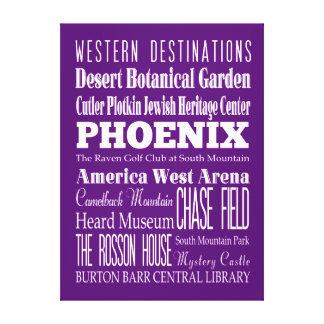 Anniversary Unique Phoenix, Arizona Gift Canvas Print