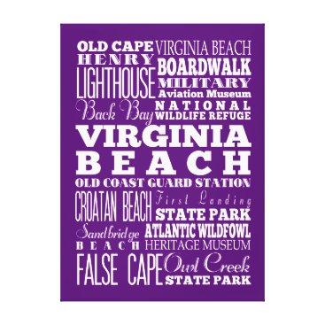 Beach Themed Anniversary Unique Virginia Beach,Virginia Gift Canvas Print