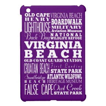 Beach Themed Anniversary Unique Virginia Beach,Virginia Gift iPad Mini Covers