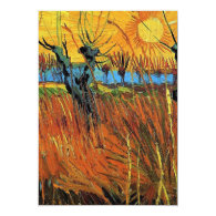 Anniversary. Willows at Sunset by van Gogh. Custom Invite