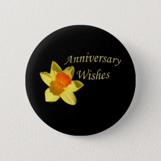 Anniversary Wishes - 10th Wedding Anniversary Button