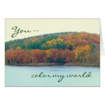 """Anniversary, """"you Color My Life"""", Autumn Colors On Card at Zazzle"""