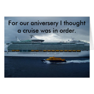 anniversery cruise card