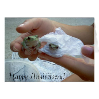 Anniversery Frog Card