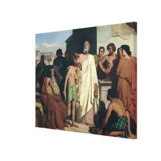 Annointing of David by Saul, 1842 Canvas Print
