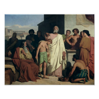 Annointing of David by Saul, 1842 Poster