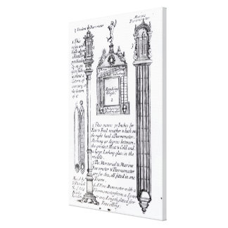 Annotated Illustration of Pendent, Diagonal Stretched Canvas Print