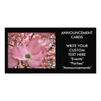 ANNOUNCEMENT CARDS Dogwood Flower PhotoCards Photo Greeting Card