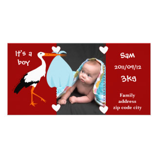 Announcement of birth Stork It' S.A. servant boy
