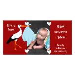 Announcement of birth Stork It' S.A. servant boy Photo Card