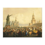 Announcement of Coronation Day by Vasily Timm 1856 Gallery Wrap Canvas