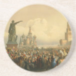 Announcement of Coronation Day by Vasily Timm 1856 Beverage Coasters