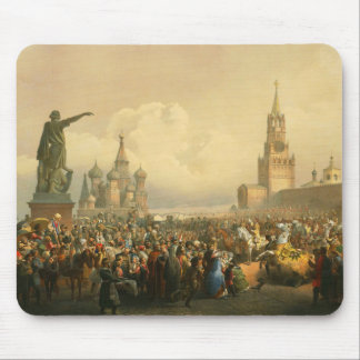 Announcement of Coronation Day by Vasily Timm 1856 Mouse Pad