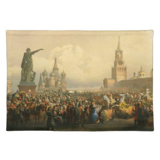 Announcement of Coronation Day by Vasily Timm 1856 Placemat