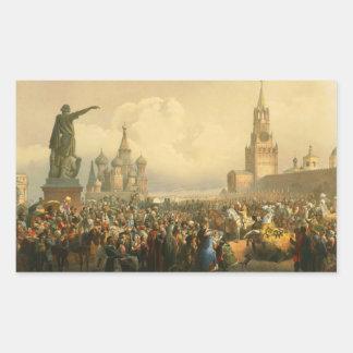 Announcement of Coronation Day by Vasily Timm 1856 Rectangular Sticker