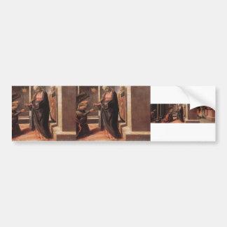 Announcement of Death of Virgin by Filippo Lippi Bumper Sticker