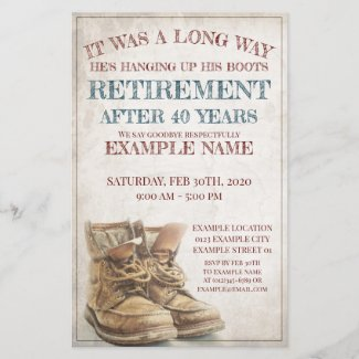 Announcement of Retirement with old Boots V2.0