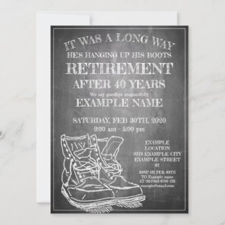 Announcement of retirement with old boots V3.0