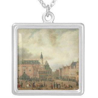 Announcement of the Peace of Breda Silver Plated Necklace