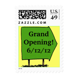 Announcement Stamp Sign Grand Opening Date Promote