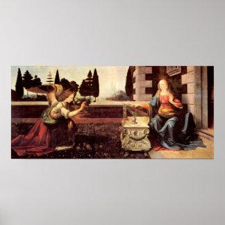 Announcement to Maria by Leonardo da Vinci Poster