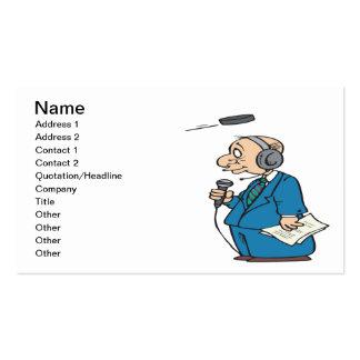 Announcer Business Card Templates