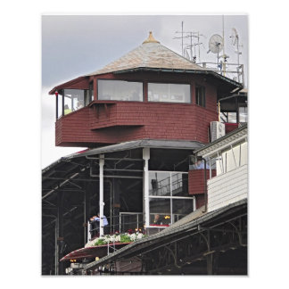 Announcer's Booth at Saratoga Photo Print
