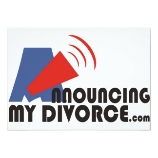 Announcing My Divorce Invitations/Announcements Card