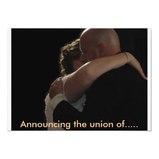 Announcing the union of..... card