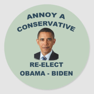 Annoy A Conservative Sticker