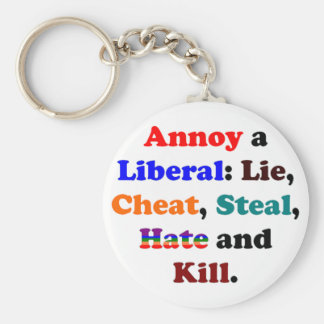 Annoy a Liberal Basic Round Button Keychain