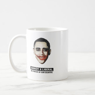 ANNOY A LIBERAL. BE PROUD OF OUR COUNTRY CLASSIC WHITE COFFEE MUG