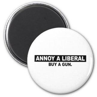 ANNOY A LIBERAL- BUY A GUN REFRIGERATOR MAGNET
