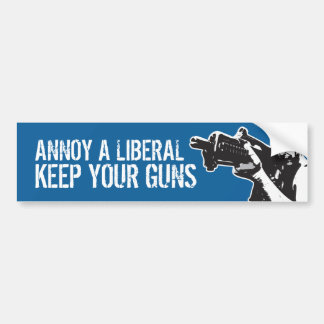Annoy a Liberal, Keep your guns Bumper Sticker