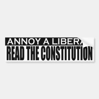 Annoy Liberals - Read the Constitution Sticker Bumper Stickers