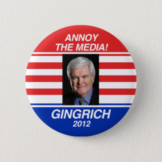 Annoy the Media Pinback Button