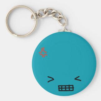 Annoyed Basic Round Button Keychain