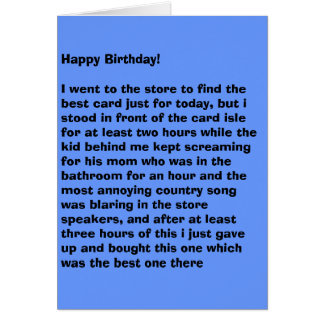 Annoyed Birthday Card