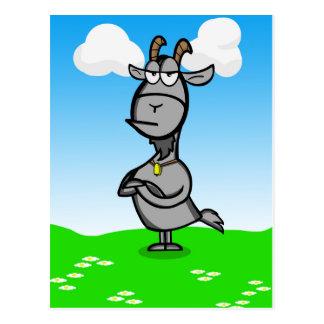 Annoyed cartoon goat postcard