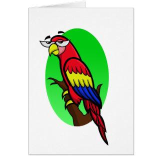 Annoyed Cartoon Parrot Card