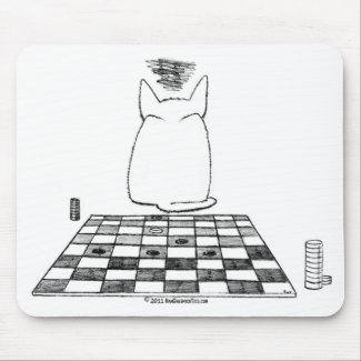 Annoyed Cat Checkers Mousepad mousepad