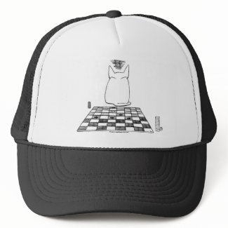 Annoyed Cat on a Hat zazzle_hat